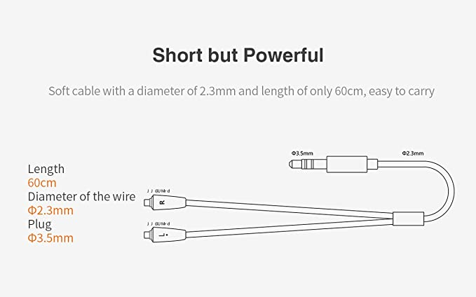 FiiO RC-MMCX1s kurzes 60cm Kopfhörerkabel für: Amazon.de: Elektronik