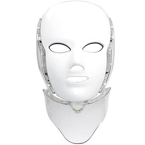 grande remise beaucoup de styles plus bas rabais Home Care Wholesale® Masque de Luminothérapie LED Photon 7 Couleurs avec  Cou | Beauté Peau Soins Photothérapie Traitement Masque