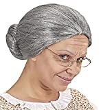 WIDMANN Grey Old Woman Lady Hair Wig Fancy Dress Gangsta Granny Stag World Book Day Kids