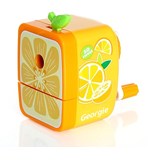 (Bao Core Portable Fruit Series Pencil Sharpener Portable Sharpen Pencil Knife Tool School Things Orange)