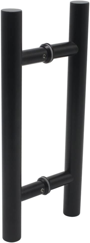 Probrico granero madera de 304acero inoxidable deslizante tirador de puerta resistente a la corrosión puerta Hardware, negro