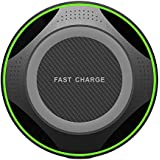 Wireless Charger, iPhone X Wireless Charger, 7.5W Wireless Charging for iPhone X 8/8 Plus, 10W Fast Wireless Charging for Samsung Galaxy S9/S9 Plus/S8/Note 8/5/S7,5W for All Qi enabled Phones