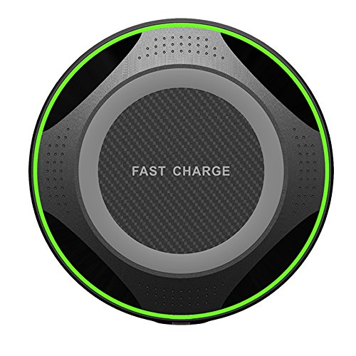 Wireless Charger, iPhone X Wireless Charger, 7.5W Wireless Charging Compatible iPhone X 8/8 Plus, 10W Fast Wireless Charging Compatible Samsung Galaxy S9/S9 Plus/S8/Note 8/5/S7, All Qi Enabled Phones by TrimDish