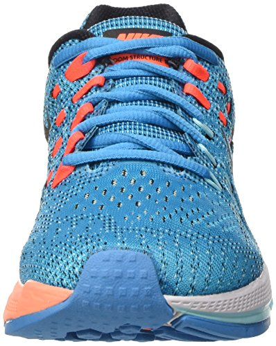 Nike Womens Air Zoom Structure 19 Scarpe Da Corsa Blue Lagoon / Bright Crimson / Copa / Black