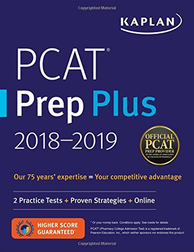PCAT Prep Plus 2018-2019: 2 Practice Tests + Proven Strategies + Online (Kaplan Test Prep) cover