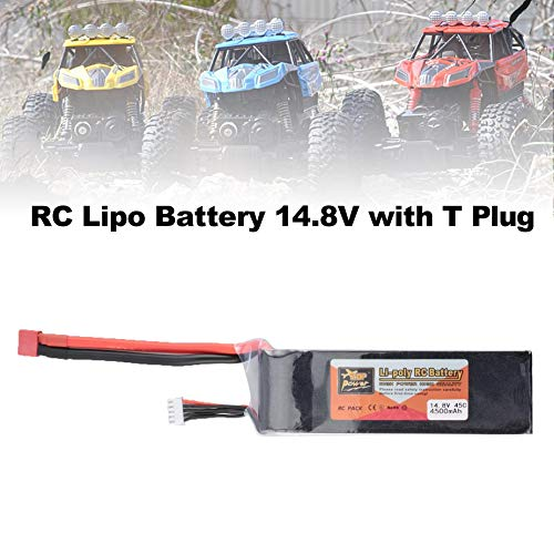 Batería RC Lipo, Batería Lipo Lipo Lipo 14.8V, Batería Helicóptero 14.8V, Batería con Enchufe en T, Batería Modelo RC, Batería Lipo 4S, Batería ZOP Power 61b0c1