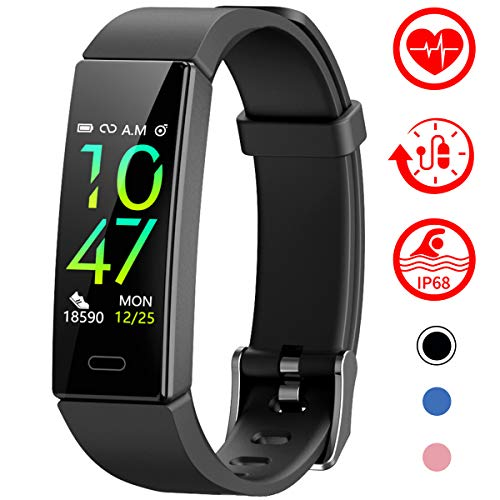 Mgaolo Fitness Tracker with Blood Pressure Heart Rate Sleep Monitor,10 Sport Modes IP68 Waterproof Activity Tracker Fit Smart Watch with Pedometer Calorie Step Counter for Women Men Kids (Sleep And Step Tracker)