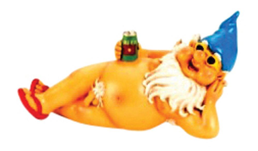 IKO Gnomos de jard/ín Grande con Cerveza con Sombrero