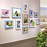 Photo Wall, Color Solid Wood Bedroom Photo Wall, Picture Frame Wall, European Living Room Creative Wall ( Color : 3# )