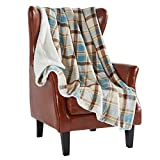 MERRYLIFE Decorative Sherpa Throw Blanket Ultra-Plush Comfort | Soft, Colorful | Home, Couch, Outdoor, Use (60' 70', Island Travel)