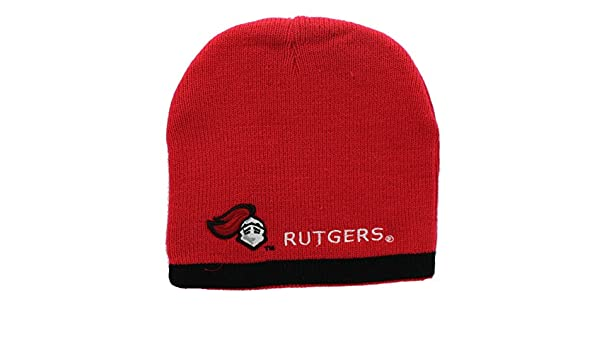 c5f857d4efe ... sweden rutgers scarlet knights embroidered beanie hat reversible knit  skull cap sports outdoors f0249 8540d