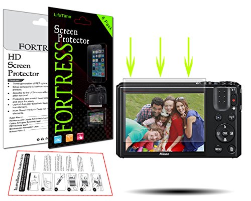 (6 Pack) Nikon Coolpix S7000 Digital Camera HD High Definition Crystal Clear LCD Screen Protector Kit Exact Fit, No Cutting Needed. LifeTime Replacement Warranty (Fortress Brand)