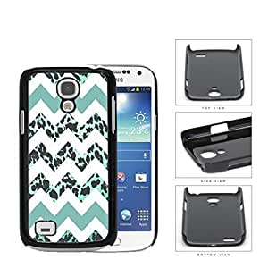 Teal White Chevron With Leopard Design Pattern Hard Plastic Snap On Cell Phone Case Samsung Galaxy S4 SIV Mini I9190