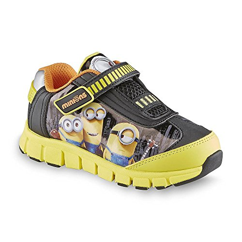 Despicable Me Little Boys Velcro Running Shoes Black/yellow/orange (10) (Despicable Me Shoes)