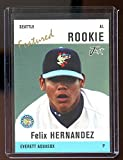 2004 Just Minors Featured Rookie #12 Felix Hernandez Everett Aquasox Mariners - Mint Condition Ships in New Holder