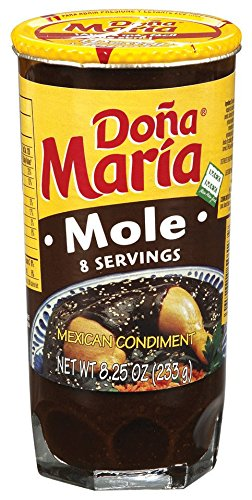 DONA MARIA Mole Regular Paste, 8.25 Ounce (Pack of 12)