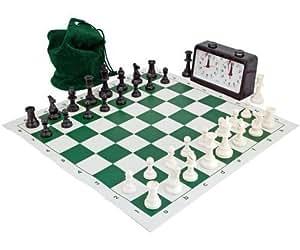 Completo Torneo Ajedrez Set Verde