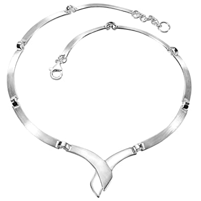 Collier silber  Vinani Damen-Halskette Collier Cross Fire Sterling Silber 925 ...