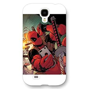 New Zeng Customized Marvel Series Case for Samsung Galaxy S4, Marvel Comic Hero Deadpool Samsung Galaxy S4 Case, Only Fit for Samsung Galaxy S4 (White Frosted Case)