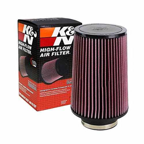"K&N 4.00"" 102mm Universal Rubber Cotton Gauze Cone Round Tapered Air Filter RU-5045"