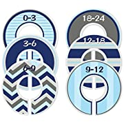 Mumsy Goose Nursery Closet Dividers, Choose Your Sizes Closet Organizers, Baby Boy Clothes Sizers
