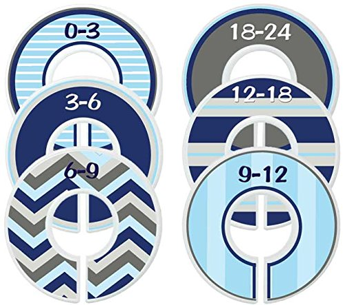 Mumsy Goose Nursery Closet Dividers, Choose Your Sizes Closet Organizers, Baby Boy Clothes Sizers by Mumsy Goose