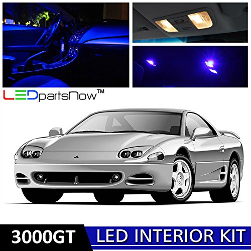 LEDpartsNow 1991-1999 Mitsubishi 3000GT LED Interior Lights Accessories Replacement Package Kit (7 Pieces), BLUE - Mitsubishi 3000gt Door