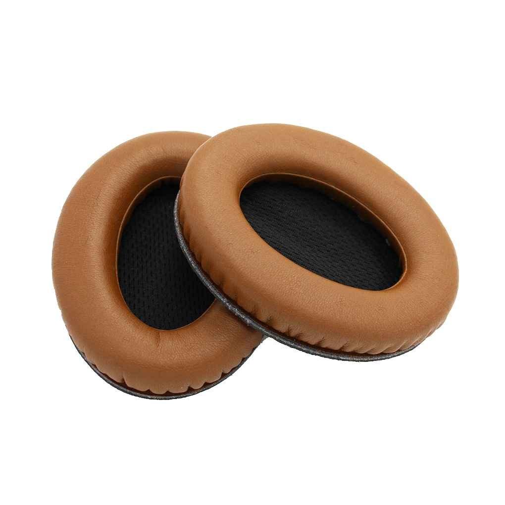 Minzhi Ear Pads Copertura dellorecchio 1 Paio Memory Foam in Pelle di Ricambio Earpad Cuscini per Bose QC2 QuietComfort2 QC15 Cuffie