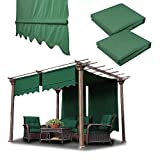 Sgood 2 Pcs 15.5x4 Ft Canopy Replacement Cover Valance Yard Structure Pergola
