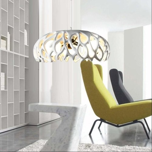 White coral shape artistic 40w pendant lighting chandelier by LightInTheBox®