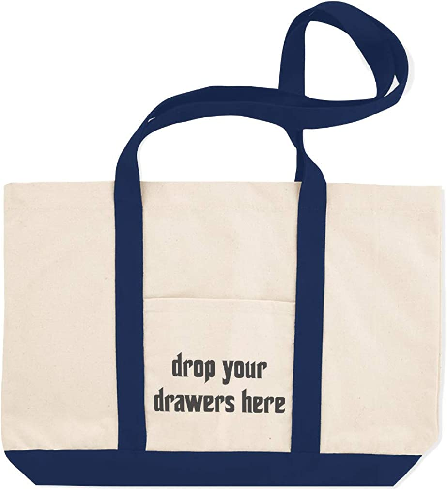 Canvas Shopping Tote Bag Drop Your Drawers Here C Home Laundry Laundry Beach for Women
