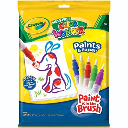 Amazon.com: Crayola Mess - Free Color Wonder Paints and Paper: Toys ...