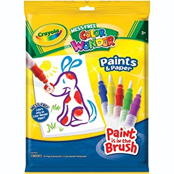 Amazon.com: Crayola Mess - Free Color Wonder Paints and Paper ...