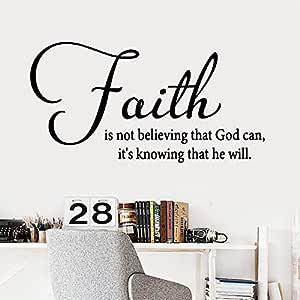 Diy cita fe Pvc tatuajes de pared decoración para el hogar sala de ...