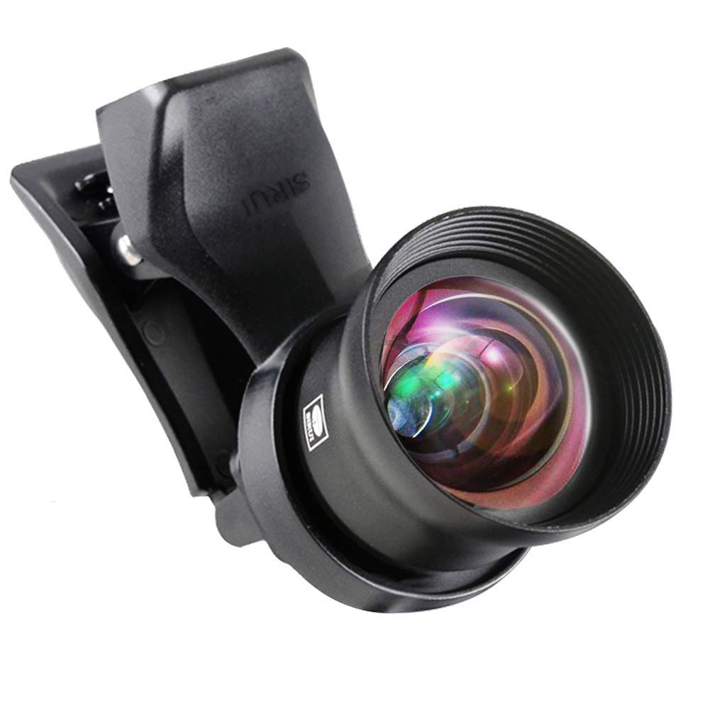 SIRUI Black Upgraded Version 60mm Portrait Mobile Phone Auxiliary Camera Attachment Lens with Mobile Lens Clip Adapter by Sirui