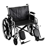 """Nova MedicalProducts Mobility Aid 24"""" Steel Wheelchair Detachable Desk Arms and Footrests"""