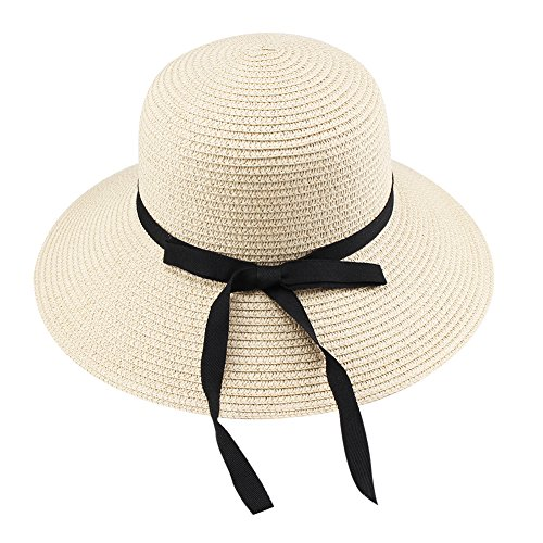 - FURTALK Kids Wide Brim Sun Hat Summer Beach Cap UPF UV Packable Straw Hat for Travel(Kids, 3-6 Years, Beige)