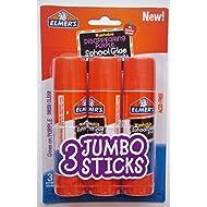 Elmer's Jumbo Glue Stick (3 Pack) 1.4 oz (40g) each - Washable Disappearing Purple