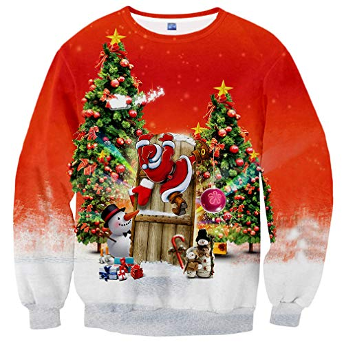 Neemanndy Teen Boys Ugly Christmas Sweaters Best Gift Long Sleeve 3D Sweatershirt for Christmas, Small -