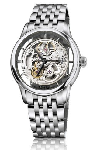 Oris Artelier Skeleton Dial Stainless Steel Mens Watch 01 734 7684 4051-07 8 21 77