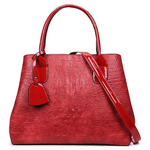 Aoligei Crocodile de mode modèle sac femme européenne et américaine de la mode sac gros Baotan épaule sac à main de la Dame B