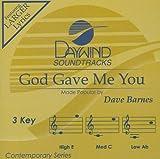 God Gave Me You [Accompaniment/Performance Track]