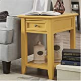 End Table with Power Outlet, Banana Yellow