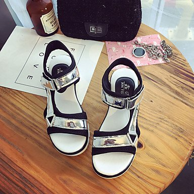 Light Flat Summer US8 Dress Mary CN39 Soles RTRY UK6 Buckle Heel Walking Sandals Pu Women'S EU39 Soles White Casual Black Flat Marylight SqxAt