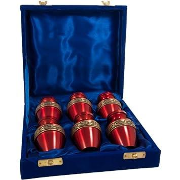 Custom Engravable Scarlet Brass Cremation Urn 6 pack of 3 , Engraved