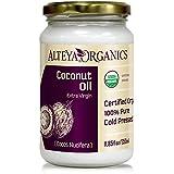 Alteya Organic Olio di Cocco Extravergine 350 ml – 100% USDA certificato organico puro naturale olio di cocco (Cocos Nucifera) extravergine