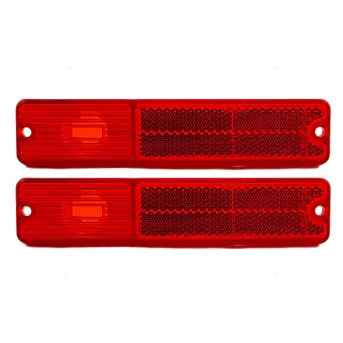 Pair Set Rear Signal Side Marker Light Lamp Units Replacement for Jeep SUV J0994021 AutoAndArt