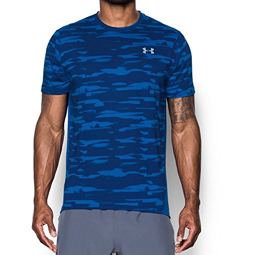 Under Armour Men's Threadborne Run Mesh Shorts Sleeve,Lapis Blue /Reflective, Small by Under Armour (Image #1)