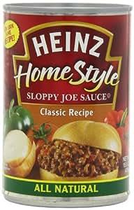 Heinz Home Style Sloppy Joe Sauce, Classic, 15.5 Ounce (Pack of 12)