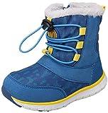 VECJUNIA Kids Fashion Thicken Winter Snow Boots Zip Up Nonslip Shoes (Toddler/Little Kid) (Blue, 9.5 M US Toddler)